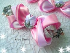 Стильный бантик из атласной ленты 5 см МК Alena Shavtr / Stylish bow from satin ribbon 5 cm DIY - YouTube