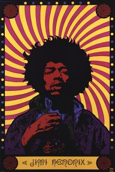 Unknown - Jimi Hendrix - Psychodelic - art prints and posters