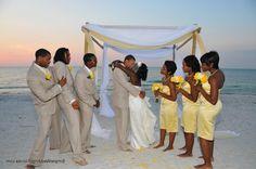 sunset wedding | Florida Beach sunset wedding