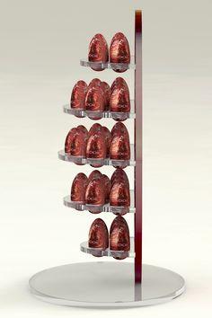 Chocolate eggs display Muffin, Eggs, Place Card Holders, Display, Chocolate, Breakfast, Food, Floor Space, Morning Coffee