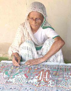 Renowned Madhubani artist Mahasundari Devi
