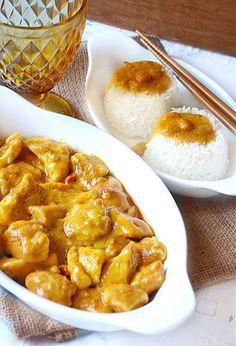 Dolci a go go: Riso basmati con pollo al latte di cocco e curry