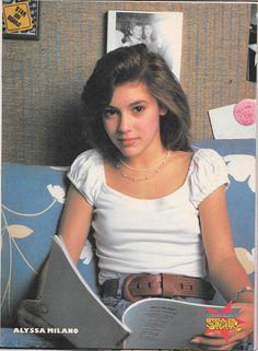 Alyssa Milano, in Tiger Beat Star, May 1988 Alicia Milano, Alyssa Milano Young, Seinfeld, Allyssa Milano, Linda Evans, Tiger Beat, Shannen Doherty, Christina Ricci, Toddler Girls