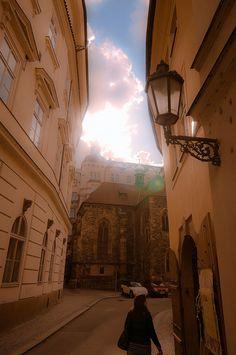 Streets of Staré Město, Prague by Duncan Reddish.