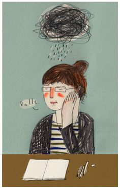 On being rubbish now and again by Lizzy Stewart Brain Drawing, Drawing S, Pretty Drawings, Art Drawings, Lizzy Stewart, For Love Or Money, Illustration Girl, Illustrations, Art Studios