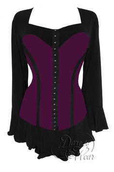 Everyone loves the corset look - it cinches down your waist and gives more va-voom to your curves. The problem is that a corset is not very comfortable. In Victorian times, they would pull them so tig