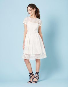 Oxford Lace Dress by Boden