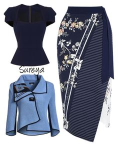 """Sureya"" by alice-durica ❤ liked on Polyvore featuring Roland Mouret and Oasis"