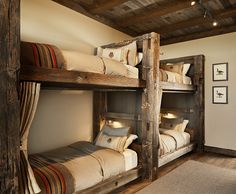 Barn wood bunk beds, rustic bunk beds