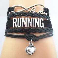 Infinity Love RUNNING Team sports Bracelet Customized
