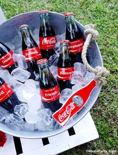 BBQ Party Drinks Station  #ShareaCokeContest