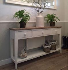 Please contact customer support on 0333 004 Foyer Furniture, Painted Furniture, Hallway Decorating, Entryway Decor, Edwardian Hallway, Cottage Hallway, Entryway Light Fixtures, Vintage Shelf, Entry Way Design