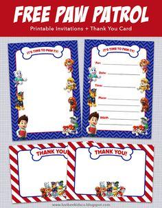 Luvibee Kids Company: Paw Patrol Birthday Invitations + Free Printables