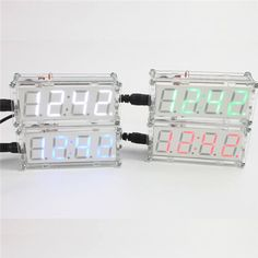Led Diy Digital Electronic Micro Controller Kit Clock Time Thermometer Us
