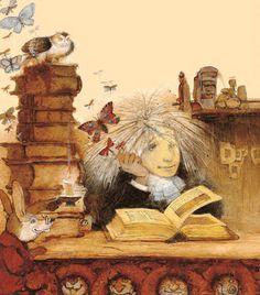 Leer, imaginar… (ilustración de Kirill Chelushkin)