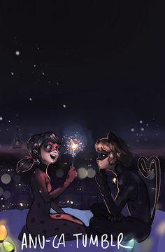 Miraculous Ladybug - Adrien Agreste x Marinette Dupain-Cheng - Ladynoir
