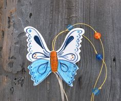 Light blue ceramic butterfly  home decoration  by IoannasVeryCHic, $15.00