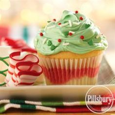 Funfetti® Color Me Holiday Cupcakes from Pillsbury® Baking
