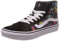 Vans Unisex Sk8Hi Slim Rainbow Floral BlackTr Skate Shoe 7 Men US  85 Women US ** You can find out more details at the link of the image.(This is an Amazon affiliate link and I receive a commission for the sales)