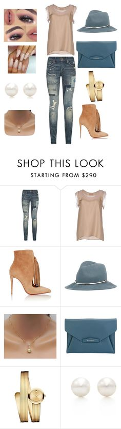 """""""Casual Fly"""" by dafina-blueeyes-nugent on Polyvore featuring Polo Ralph Lauren, Lanvin, Christian Louboutin, Janessa Leone, Givenchy, Movado and Tiffany & Co."""