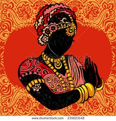 Indian woman.Vector illustration of Indian woman