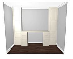 Learn how to build a desk using IKEA SEKTION cabinets. Design a custom built-in desk using IKEA kitchen cabinets. home projects on a budget Ikea Home Office, Home Office Organization, Home Office Space, Home Office Design, Ikea Office Hack, Office Nook, Desk Office, Office Spaces, Work Spaces