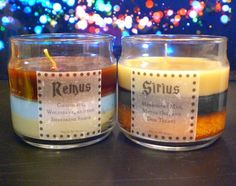 Sirius and Remus 4oz Candles- Marauders Map, Motor Oil, and Dog Treats- Chocolate, Wolfsbane, and the Shreiking Shack from Mud In My Blood