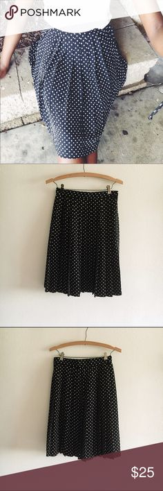 Vintage Pleated Polkadot Skirt How smashing is this vintage skirt? Length 24 in. | Waist 28 in. | Best fit size 2/4 | No damage, trades, or lowballing Skirts