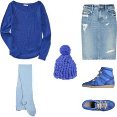 """total blue"" by noanyedges on Polyvore"