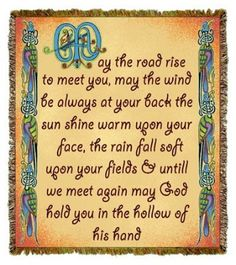 Irish Blessing Tapestry