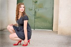 red heels senior photography - Whimsy Girl Photography