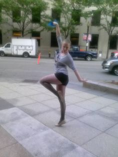 me dancing around outside after the recital ;)