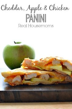 Cheddar Apple and Chicken Panini_Real Housemoms