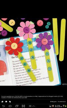 DIY Flower Book Marks easter diy craft crafts easy crafts craft idea diy ideas easy diy kids crafts home crafts diy craft easter crafts Kids Crafts, Toddler Crafts, Preschool Crafts, Easter Crafts, Popsicle Stick Crafts, Popsicle Sticks, Craft Stick Crafts, Bookmark Craft, Diy Bookmarks