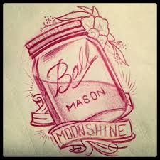 ideal mason jar tattoo//google image search All except the moonshine