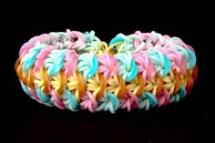 cool How to Make a FISH SCALE - ADVANCED - Needs 4 Rainbow Looms - Rubber Bands Bracelet