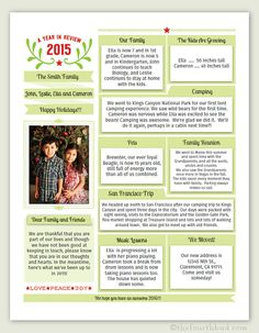 A Year In Review Christmas Letter And Template  Christmas Letters