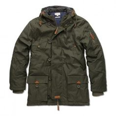 Knowledge Cotton Apparel | Forest Green Waxed Canvas Jacket