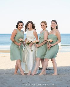 Bride & Bridesmaids ~ Summer Wedding, York Beach Fun! at the Union Bluff Meeting House, York, ME photography by Artifact Images NH, ME, MA Wedding Photographers