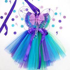 Fairy Princess Tutu Kleid mit Flügeln, Fee Kleid, Fee Kostüm Geburtstag Tutu Kleid, Fairy Party, Tea Party Tutu, Anzieh, Weihnachten