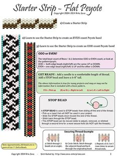 Free Beading Pattern: Starter Strip Information - Peyote at Bead-Patterns.com