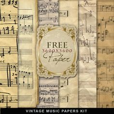 Far Far Hill: Freebies Vintage Music Papers