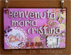 made in bottega: un fiocco nascita in feltro e carta