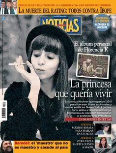 """La """"princesa"""" Florencia K en la tapa de revista Noticias que sale esta noche."""