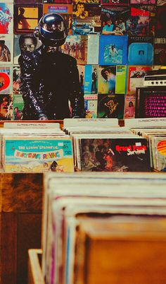 Daft Punk in the record shop