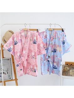 Chinese Japanese Oriental Cranes Ladies Kimono Pyjamas Pajamas Set  ladpj112113  9a830fbe8