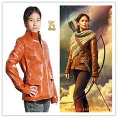 The Hunger Games 2 Catching Fire Cosplay Costume Katniss Everdeen PU Jacket Coat xcoser Halloween Cosplay, Halloween Masks, Cosplay Costumes, Pu Jacket, Leather Jacket, Hunger Games 2, Cosplay Store, Katniss Everdeen, Masks For Sale