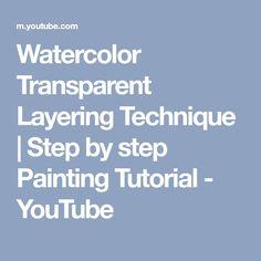 Paint this m, its good Watercolor Video, Watercolour Tutorials, Watercolor Techniques, Painting Techniques, Watercolor Classes, Watercolor Lesson, Watercolor Journal, Watercolor Images, Matte Painting