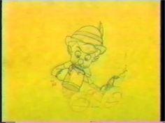 Pinocchio disney pencil test