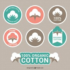 Etiquetas de algodão orgânico Vetor grátis
